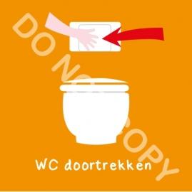 WC doortrekken (K)