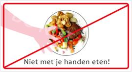 Niet met je handen eten! (HR) T/V