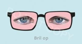 Bril op - J