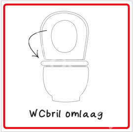 WCbril omlaag (HR)