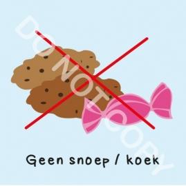 Geen snoep/koek (M)