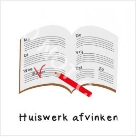 Huiswerk afvinken (H)