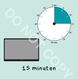 Tablet/I-Pad tijden 15 min (BT) - M