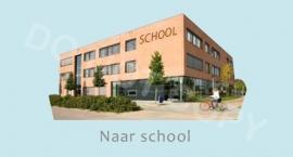 Naar school - J