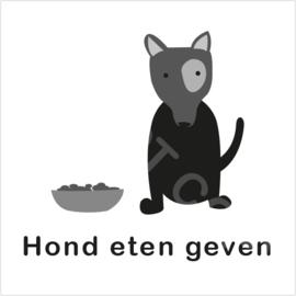 ZW/W - Hond eten geven