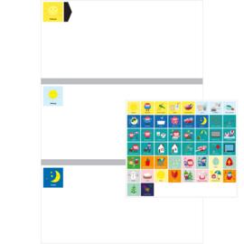 Planbord DAG - ZILVER + Picto Totaalset Mia