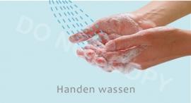 Handen wassen - J