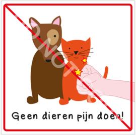 Geen dieren pijn doen! (HR)