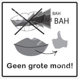 ZW/W - Geen grote mond!