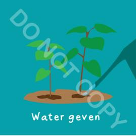 Water geven plant buiten (act.)