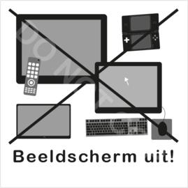 ZW/W - Beeldscherm uit