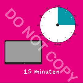 Tablet/I-Pad tijden 15 min (BT) - R