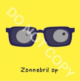 Zonnebril op (O)
