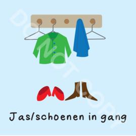 Jas/schoenen in gang (M)