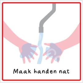 Stap 1 - Maak handen nat - HR
