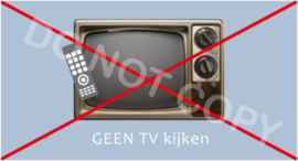 GEEN TV kijken - J/TV