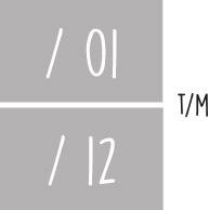 7X 01 t/m 12 - Maanden v/h jaar NR1