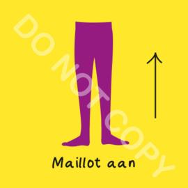 Maillot aan (O)