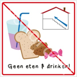 Geen eten & drinken boven! (HR)