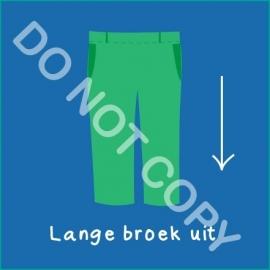 Lange broek uit (A)