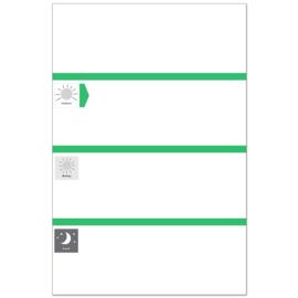 Planbord DAG GREEN +WR ZW