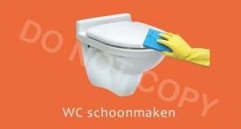 WC schoonmaken - T/V