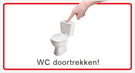 WC doortrekken! (HR) T/V