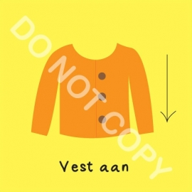 Vest aan (O)