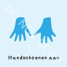 Handschoenen aan (M)