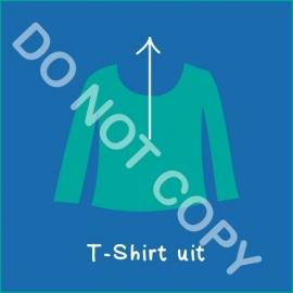 T-Shirt lang uit (A)