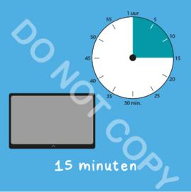 Tablet/I-Pad tijden 15 min (BT) - T