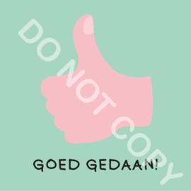 GOED GEDAAN! (F)