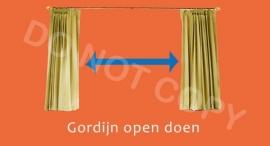 Gordijn open doen - T/V