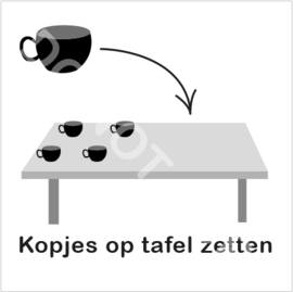 ZW/W - Kopjes op tafel zetten