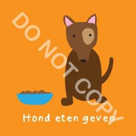 Hond eten geven (K)