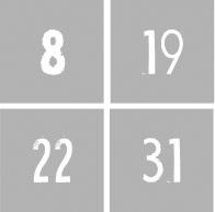 Cijfers 1 t/m 31 - Dagen v/d maand NR3