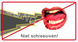 Niet schreeuwen! (HR) T/V