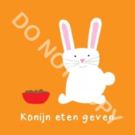 Konijn eten geven (K)