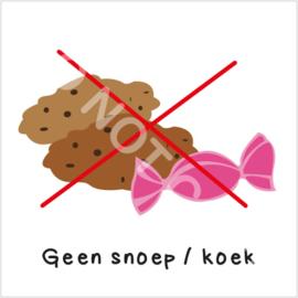 Geen snoep/koek (S)