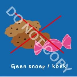 Geen snoep/koek (A)