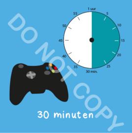 Game tijden 30 min (BT) - T