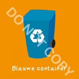 Blauwe container (K)