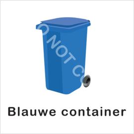 BASIC - Blauwe container