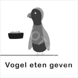 ZW/W - Vogel eten geven