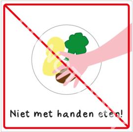 Niet met handen eten! (HR)