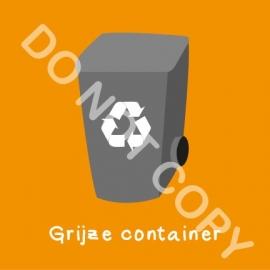 Grijze container (K)