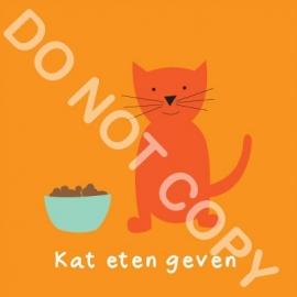 Kat eten geven (K)