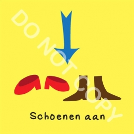 Schoenen aan (O)