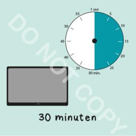 Tablet/I-Pad tijden 30 min (BT) - M