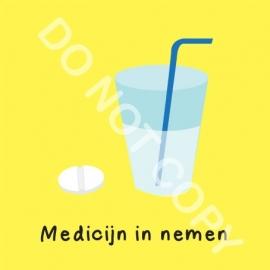 Medicijn in nemen (O)